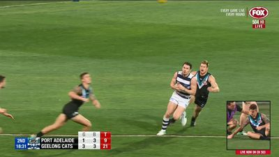 Courageous Geelong hand Port Adelaide second consecutive loss