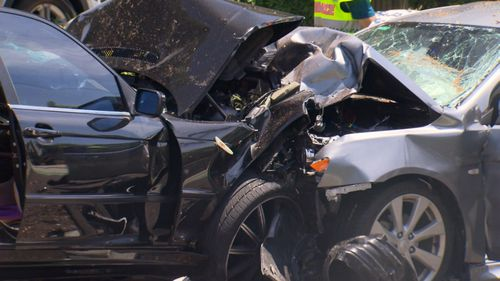 Police say five people were involved in the accident. (9NEWS)
