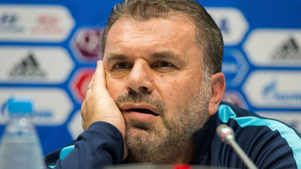 Socceroos coach Ange Postecoglou fires up before Confederations Cup opener against Germany