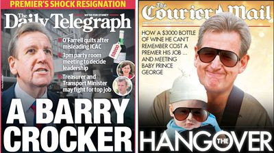 The Daily Telegraph and the Courier Mail also got in on the act. (News Ltd)