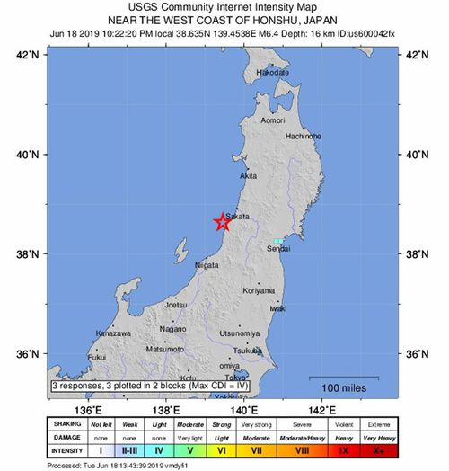 Magnitude 6.8 Earthquake Strikes Northwestern Japan; Tsunami Warning Issued