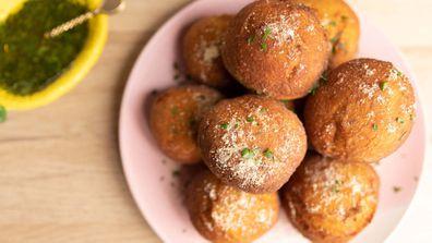 Mashed potato doughnuts are so much fun