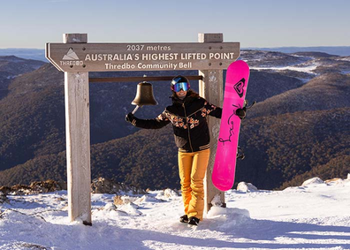 Thredbo Community Bell at Australia's highest ski lifted point