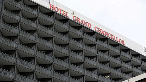 The Grand Chancellor Hotel has been linked to the UK strain of coronavirus.