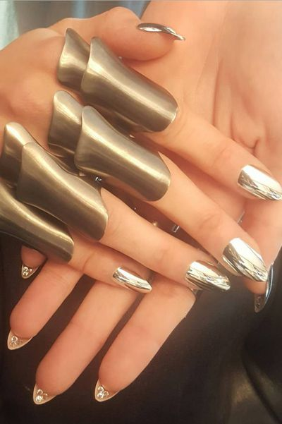 "<p>Celebrity necks, ears and hands are often dripping in expensive jewels, but last night's Met Gala saw Gigi Hadid's nails decked out in precious stones too - $2000 worth, to be exact. A custom chrome manicure from artist Mar y Soul included three crystals underneath each nail ""for that element of surprise"".</p><p>Click through to get up close and personal with the other accessories, fabrics and jewels that stole the show at Met Gala.</p>"