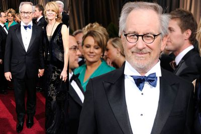 Steven Spielberg... more proof that fashion doesn't have to suffer with age! The navy bow tie is a nice touch, and if you look closely - that shirt's got delicate pin-tucks!