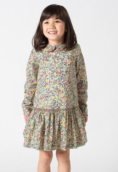 """<a href=""""https://prettywildkids.com/collections/boys-clothes/products/adele-dress-forest-fleur-sable """" target=""""_blank"""" title=""""Pretty Wild AdeleDress"""">Pretty Wild Adele Dress</a>, $149.00"""