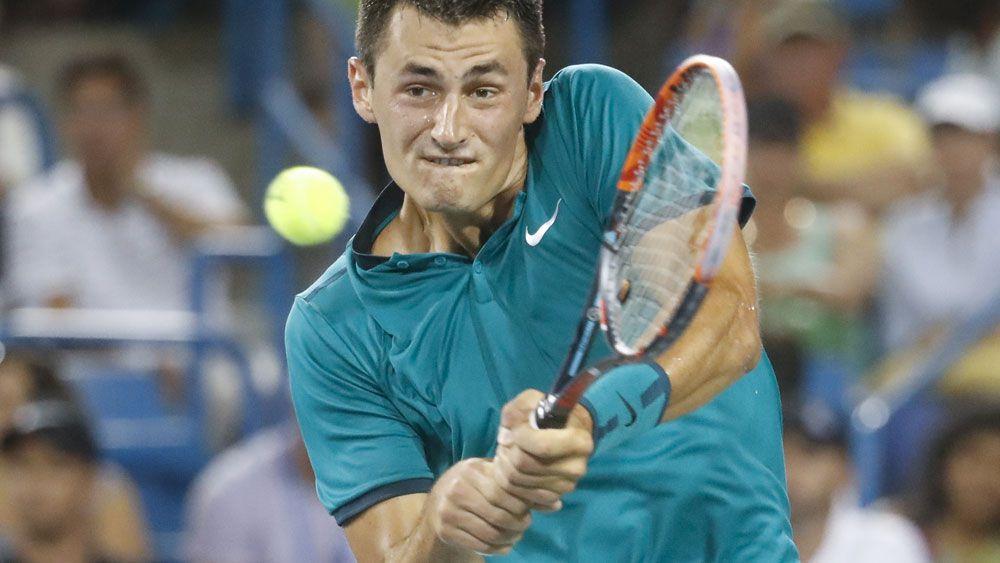 Bernard Tomic has a tough challenge in Brisbane. (AAP)