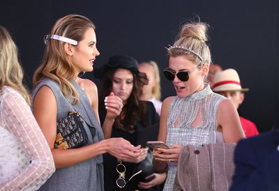 The women styled their outfits perfectly - Jesinta with a killer metallic head piece and Rachel with aviator sunglasses, a sweet messy bun and a fine headband with floral detail.
