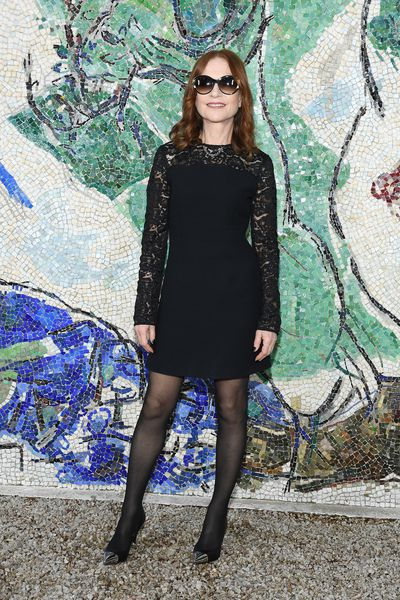French actress Isabelle Huppert at Louis Vuitton Cruise '19