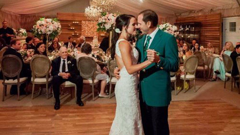 US Masters champion Sergio Garcia wears green jacket to wedding