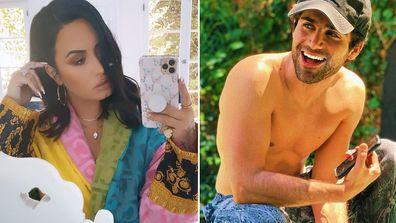 Demi Lovato, fiancé Max Ehrich, Instagram