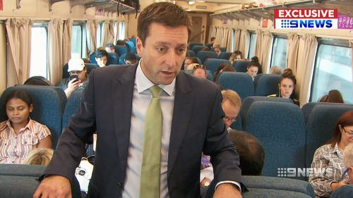 Matthew Guy has pledged to replace Victoria's long distance rail fleet if the Liberals win the state election. (9NEWS)