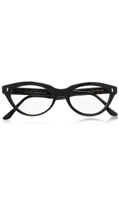 """<a href=""""http://www.net-a-porter.com/au/en/product/530604"""" target=""""_blank"""">Cat-Eye Acetate Optical Glasses, $381.79, Cutler & Gross</a>"""