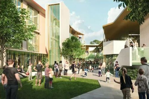 The new school will feature a performing arts centre, sports centre and playing fields. Picture: Supplied.