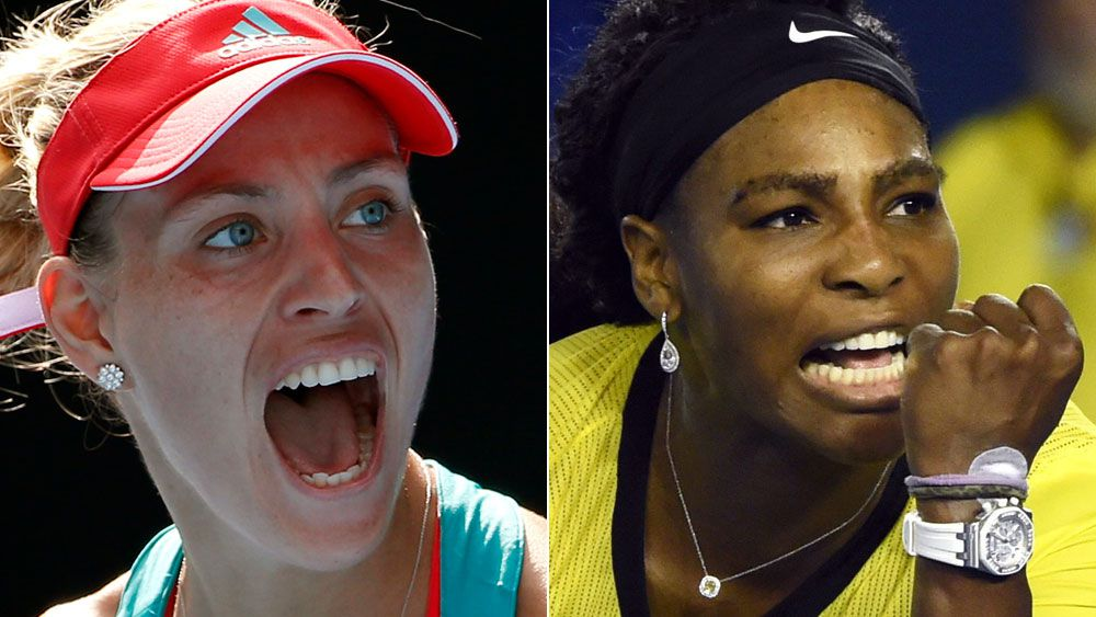 Angelique Kerber and Serena Williams. (AAP)