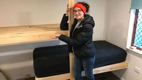 Charlotte Sapwell building tiny house