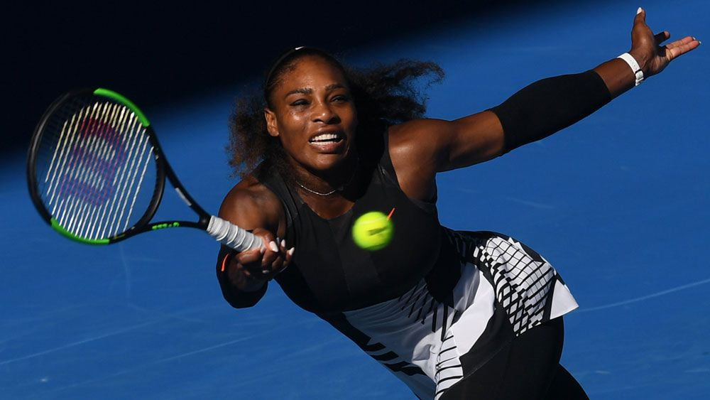 Serena Williams cruised into the Australian Open final. (AAP)