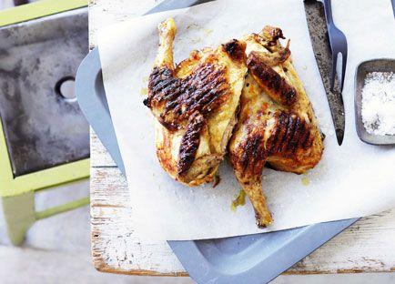 Grilled whole chicken with piri piri
