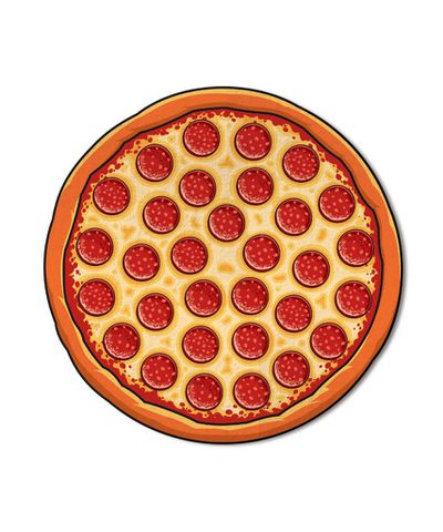 """<a href=""""http://www.thirddrawerdown.com/products/giant-pizza-beach-blanket-1"""" target=""""_blank"""">Giant Pizza Beach Blanket, $55, Third Drawer Down</a>"""