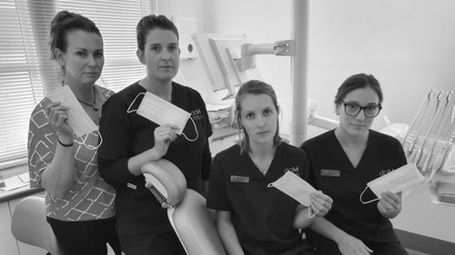 Staff at the Dental on Macquarie practice in South Hobart are worried about a shortage of masks.