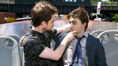 The tour is promoting the independent film Swiss Army Man, starring Radcliffe and Paul Dano. (A12)