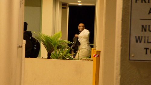 Bangura, who had previously claimed to suffer injuries that limited his movement, seen running from A Current Affair.