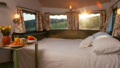 Decaying caravan transformed into luxury holiday rental