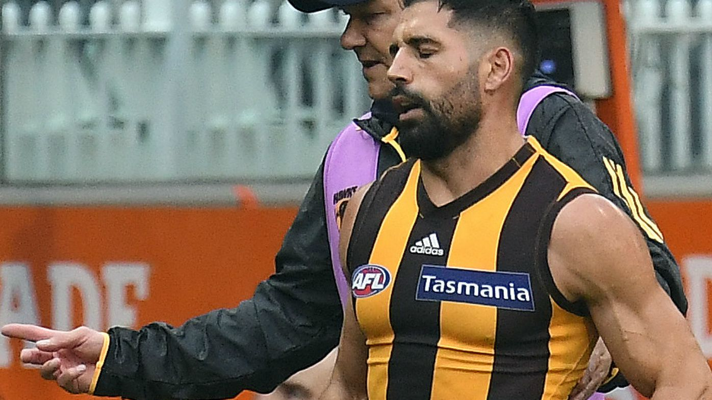 Hawks cop two key injuries in big AFL win