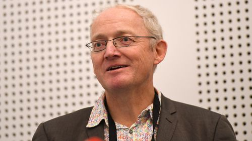 University of NSW Professor Toby Walsh speaks at the 2017 International Joint Conference on Artificial Intelligence at the Melbourne Exhibition and Convention Centre in 2017. Walsh launched a letter signed by 116 robotics and artificial intelligence experts, demanding the United Nations prohibit the use of killer robots, or lethal autonomous weapons, internationally.