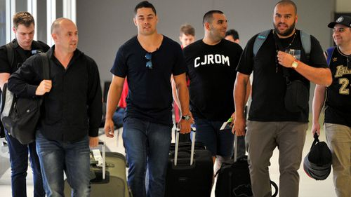 Hayne leaving for the US yesterday to pursue his NFL dreams. (AAP)