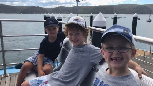 Jimmy Hawkins, 7, and his best friends Charles and Dominic embarked on a weekend camping trip with their dads at The Basin campground in Ku-ring-gai Chase National Park