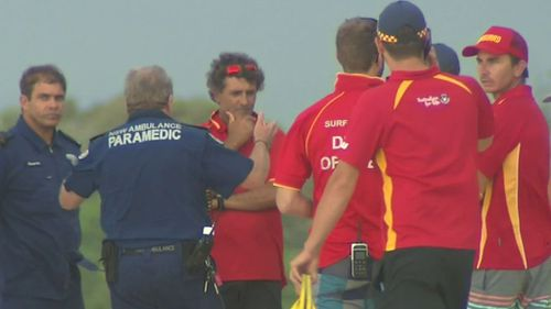 Two lifeguards were on-duty when seven Indian students who were caught in strong surf. (9NEWS)