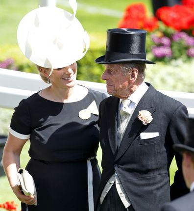 Zara, the royal's eldest granddaughter, appeared red-eyed at the funeral.