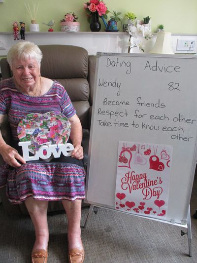 Wendy, 82: 'Become friends'