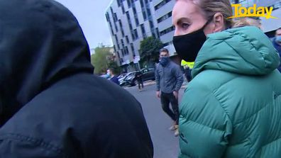 At one point Christine and her cameraman were cornered by angry protesters.