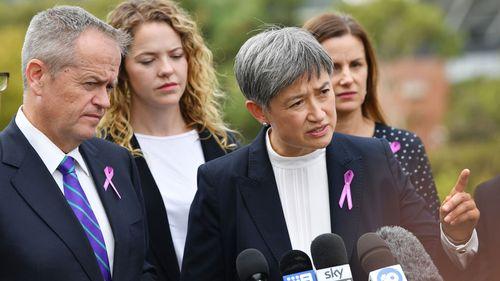 Senator Penny Wong speaking in Adelaide.