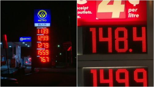 Petrol prices varied greatly across Sydney's suburbs last night. (9NEWS)