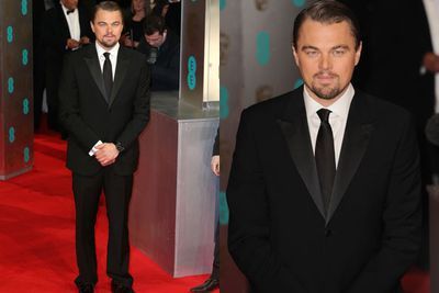Leonardo DiCaprio stuns all in a dapper suit and tie.