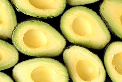 Half a medium avocado (100g): 6.7g fibre