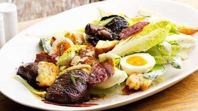 "Recipe: <a href=""https://kitchen.nine.com.au/2017/12/15/17/52/champignon-mushgroom-caesar-salad"" target=""_top"">Champignon mushroom Caesar salad</a><br /> <br />"