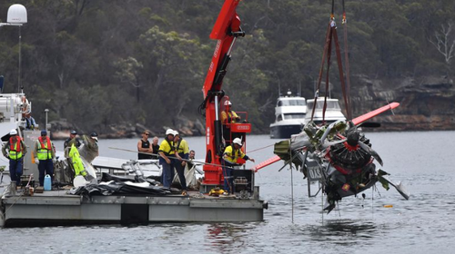 The light plane crashed in the Hawkesbury River near Sydney.