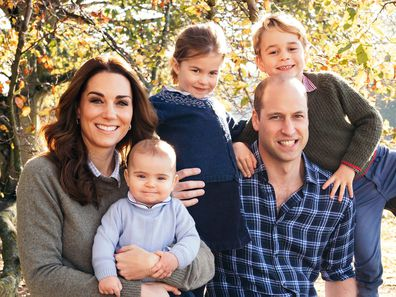 Previously unseen photo of George, Charlotte and Louis released