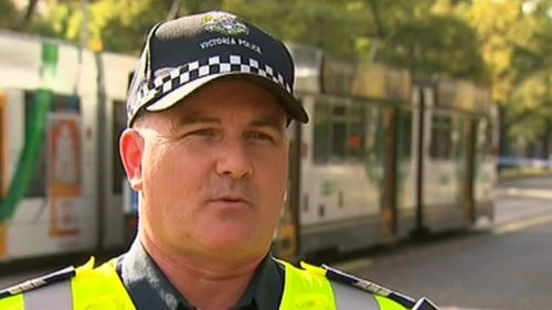 Detective Sergeant Mark Amos said police will investigate why the driver turned in front of a moving tram. (9NEWS)