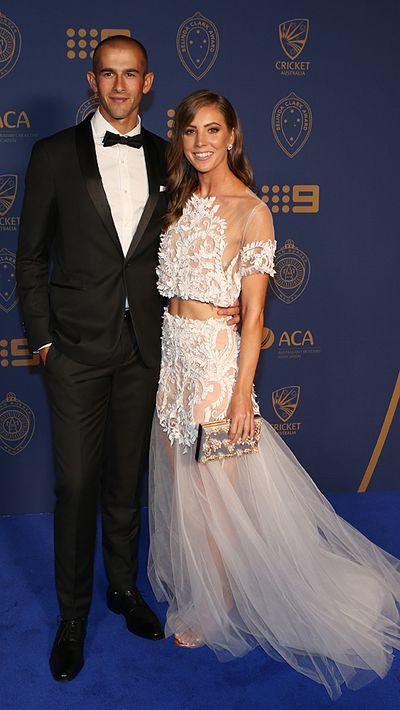 Ashton Agar and his partner Madeleine Hay.