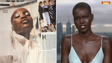 Who Magazine's spread about Adut Akech featured this image of Flavia Lazarus (left) falsely identified as Akech.
