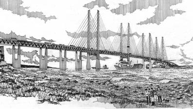 Bridge design by architect