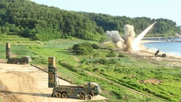 Watch as US and S. Korea conduct a joint ballistic missile drill