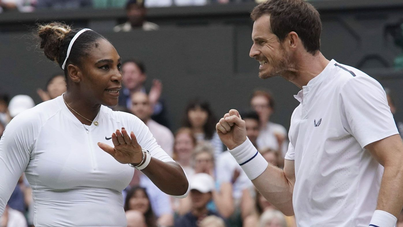 Serena Williams, Andy Murray march on in mixed doubles, now dubbed 'Murena'