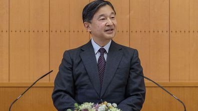 Japan's Emperor Naruhito speaks during a press conference on the occasion of his 61st birthday on Feb. 23 at Akasaka Palace in Tokyo. Naruhito celebrated 61st birthday on Tuesday, Feb. 23, 2021